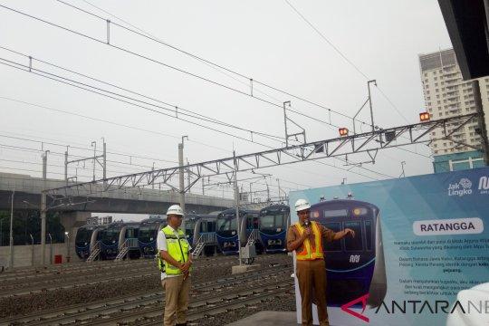 Anies meresmikan nama Ratangga untuk kereta MRT