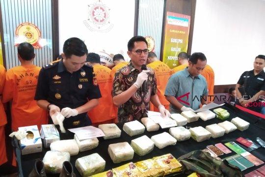 Bareskrim sita 7Kg sabu asal Malaysia dalam kemasan teh