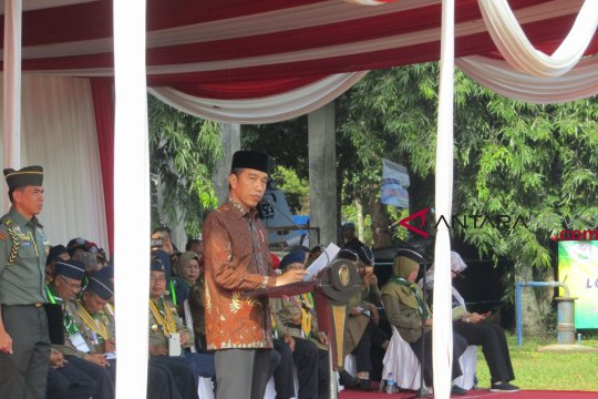 Jokowi ajak Hizbul Wathan hijrah kepada kebaikan.