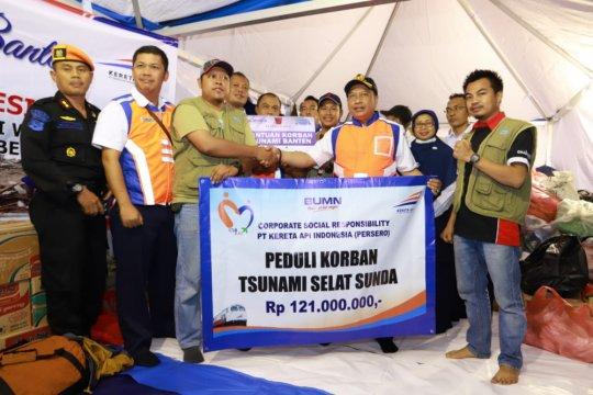 PT KAI berikan bantuan tanggap darurat korban tsunami