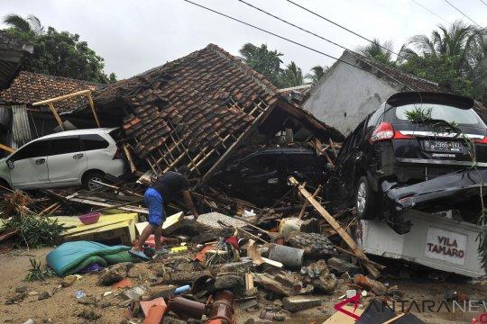 443 rumah di pandeglang rusak diterjang tsunami
