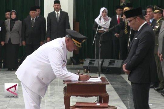 Gubernur Jabar lantik kepala daerah Kab. Kuningan dan Kota Banjar