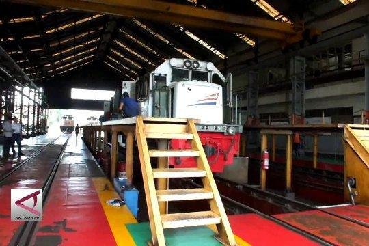 Stasiun Bandung rawat lokomotif di atas standar