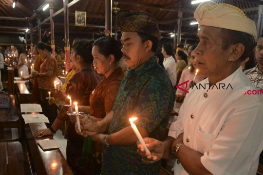 Umat Katolik Badung rayakan Natal bernuansa Bali