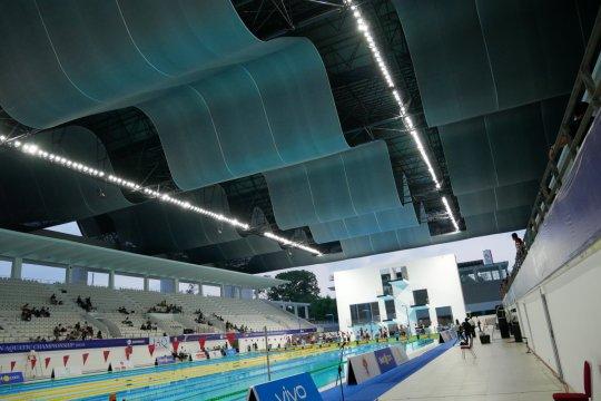 Mengintip perawatan kolam Stadion Akuatik Gelora Bung Karno