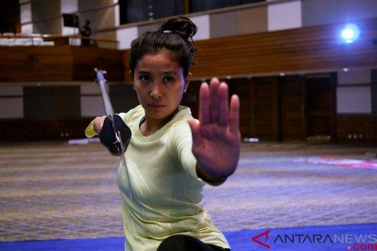 Olivia Zalianty tambah koleksi medali dari kejuaraan kungfu di Bali
