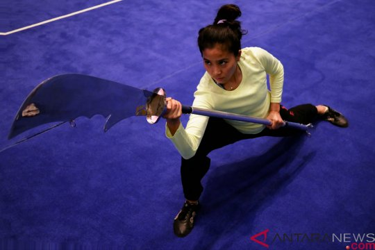 Wushu - Olivia Zalianty ramaikan kejuaraan kungfu internasional Bali 2018