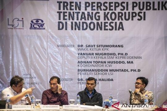 Survei LSI: Penilaian korupsi meningkat terus menurun