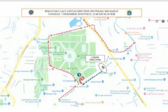 DKI rekayasa lalu lintas selama revitalisasi JPO Polda