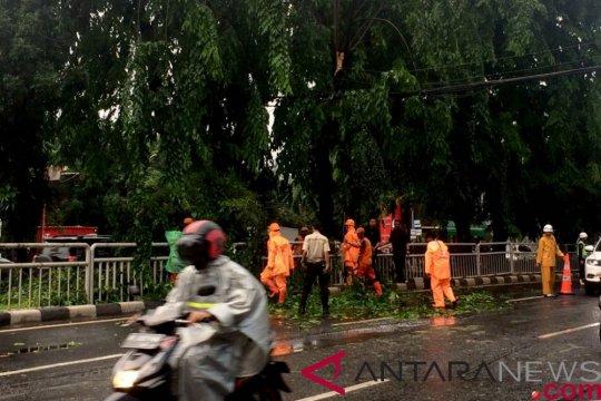 Hujan guyur Jakarta jelang malam pergantian tahun