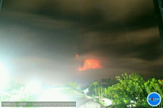 Gunung Soputan erupsi, status Siaga