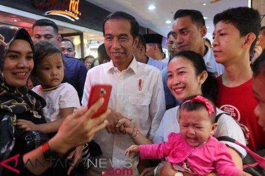 Jokowi percaya militansi tinggi relawan dan pendukungnya di Jambi