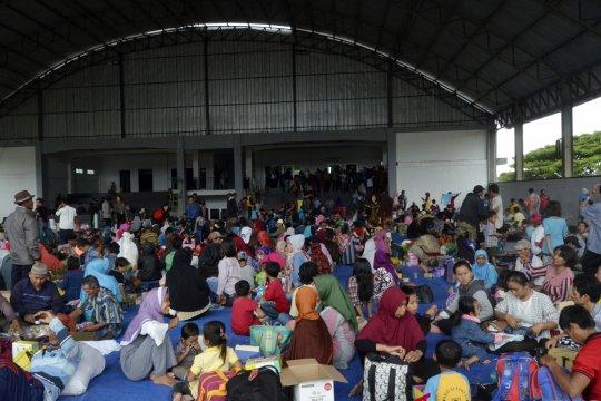 Tagana kerahkan personel siaga di pengungsian korban tsunami Lampung