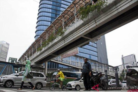 JPO Tosari dibongkar, polisi rekayasa lalin Jalan MH Thamrin