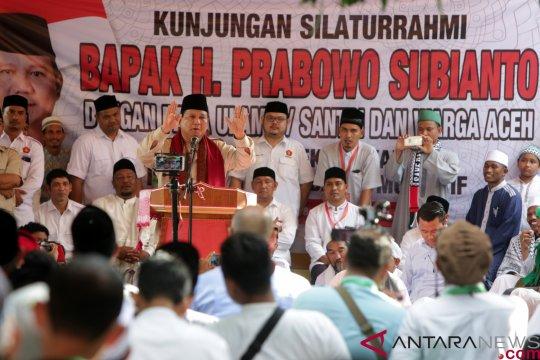 Prabowo Bersilaturahmi Dengan Ulama Aceh