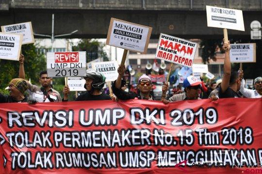 Serikat pekerja tetap tolak kenaikan upah mengacu PP 78/2015