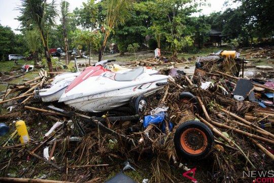 Pengelola Tanjung Lesung mulai bersihkan puing akibat tsunami Selat Sunda
