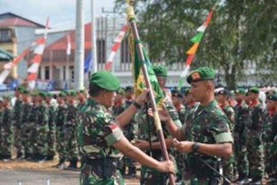 Kodam Tanjungpura berangkatkan dua batalion infanteri ke perbatasan