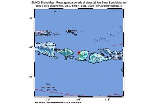 Gempa Mataram dipicu aktivitas Sesar Naik Flores
