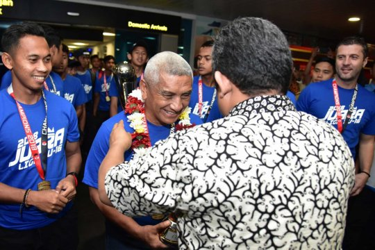 Ribuan bobotoh sambut Persib u-16 usai juarai Liga Elite Pro Academy PSSI U-16 2018