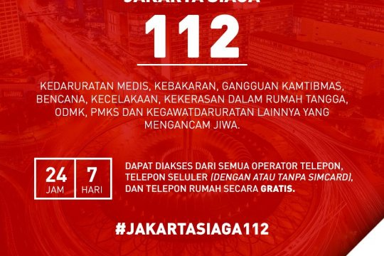 Layanan Jakarta siaga 112 alami gangguan Jumat