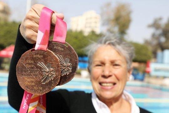 Usia bukan halangan, perenang Mesir usia 76 masih juara