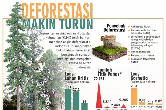 Deforestasi makin turun