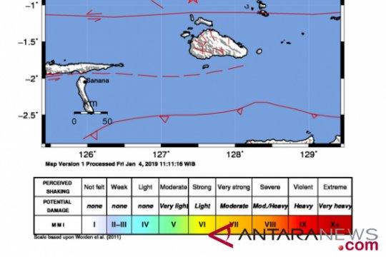 Gempa 3,5 magnitudo terjadi di Labuha Maluku Utara