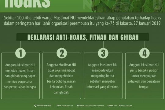 Deklarasi anti-hoaks Muslimat NU