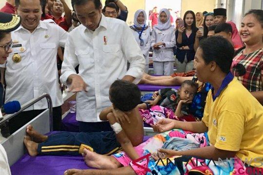 Penyintas tsunami ceritakan pengalamannya ke Presiden