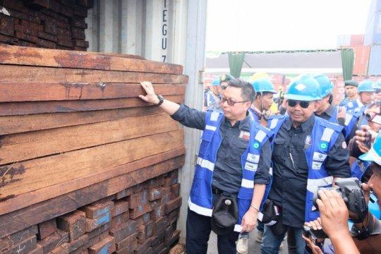 Gakkum KLHK amankan 384 kontainer kayu ilegal asal Papua