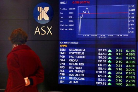 Pasar saham Australia dibuka melambung, seiring penguatan Wall Street