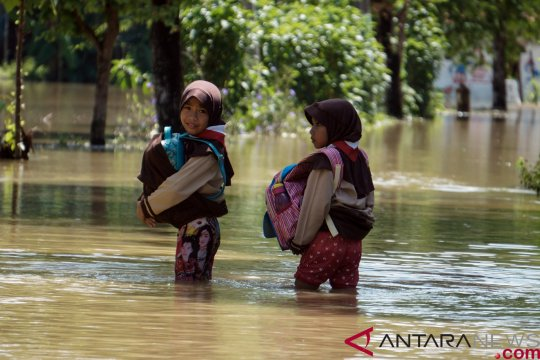 Sejumlah wilayah Mojokerto dilanda banjir