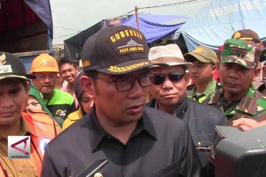 Gubernur Jabar tinjau lokasi bencana puting beliung