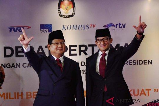 Prabowo-Sandiaga tiba di arena debat