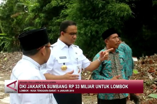 DKI Jakarta sumbang Rp 33 Miliar untuk Lombok