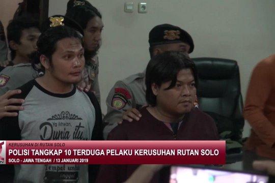 Polisi tangkap 10 terduga pelaku kerusuhan Rutan Solo