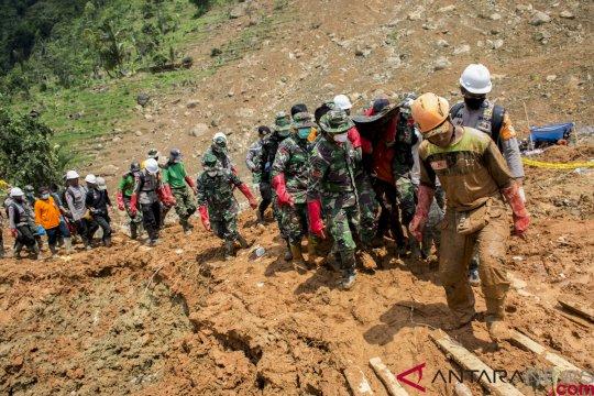 BNPB: 31 meninggal akibat longsor di Sukabumi