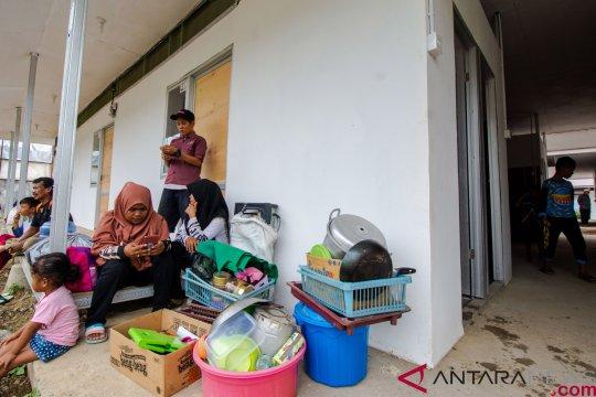 40 unit hunian sementara bantuan TNI diserahkan ke warga Rajabasa Lampung Selatan
