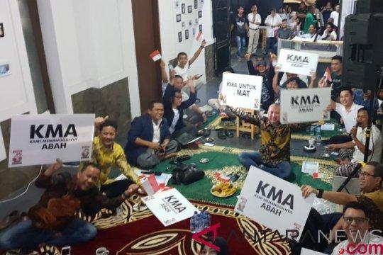 Relawan Kiai Ma'ruf awali nobar dengan tahlilan