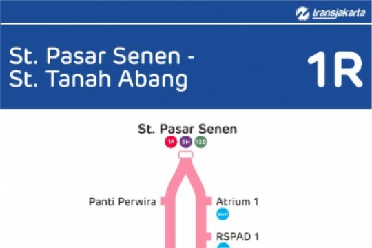 Transjakarta buka rute Stasiun Senen- Stasiun Tanah Abang