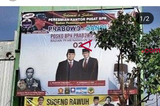 Soal foto Gatot di baliho BPN, Jagad bertanggungjawab