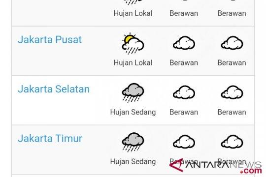 Jakarta berpotensi hujan dan angin kencang