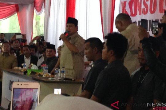 Prabowo Subianto ajak relawan Roemah Djoeang solid amankan TPS