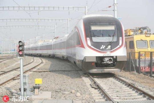 MRT tercepat China diuji coba di bandara baru