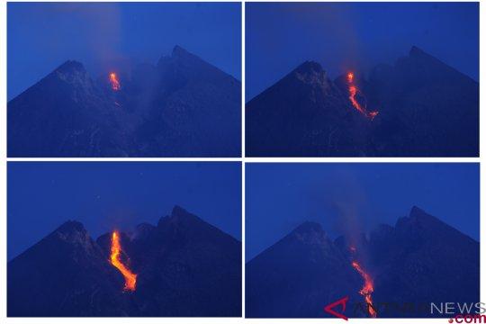 Gunung Merapi alami sembilan kali guguran lava pijar