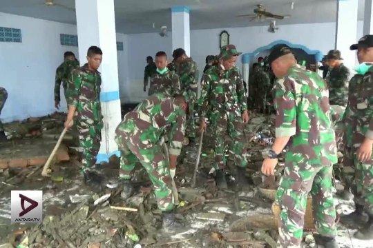 Personel TNI akan bangun hunian tetap bagi korban tsunami