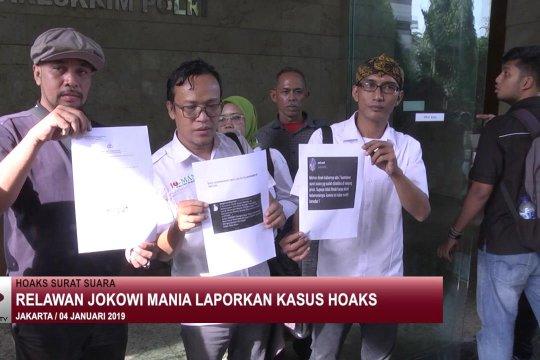 Relawan Jokowi Mania laporkan kasus hoaks