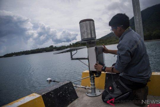 Zona waspada tsunami 500 meter masih diterapkan di pesisir Selat Sunda
