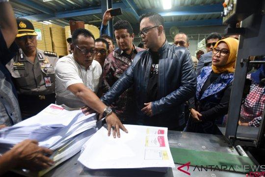 Cetak perdana suarat suara Pemilu 2019